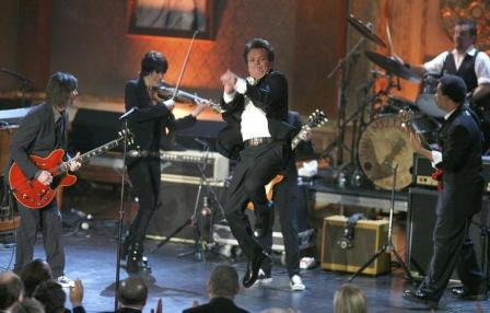 John Mellencamp, at his Rock and Roll Hall of Fame induction in 2008