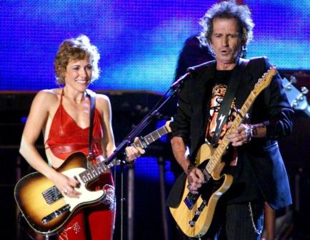 Sheryl Crow with Keith Richards, Central Park 1999