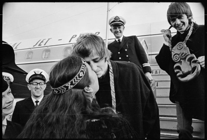 Ringo Starr receiving a Maori welcome in Wellington. George hopes to dodge a bullet. Poor bastards.