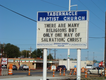 The Tabernacle Baptist Church, Lubbock, where Buddy's family worshiped and where his funeral was held